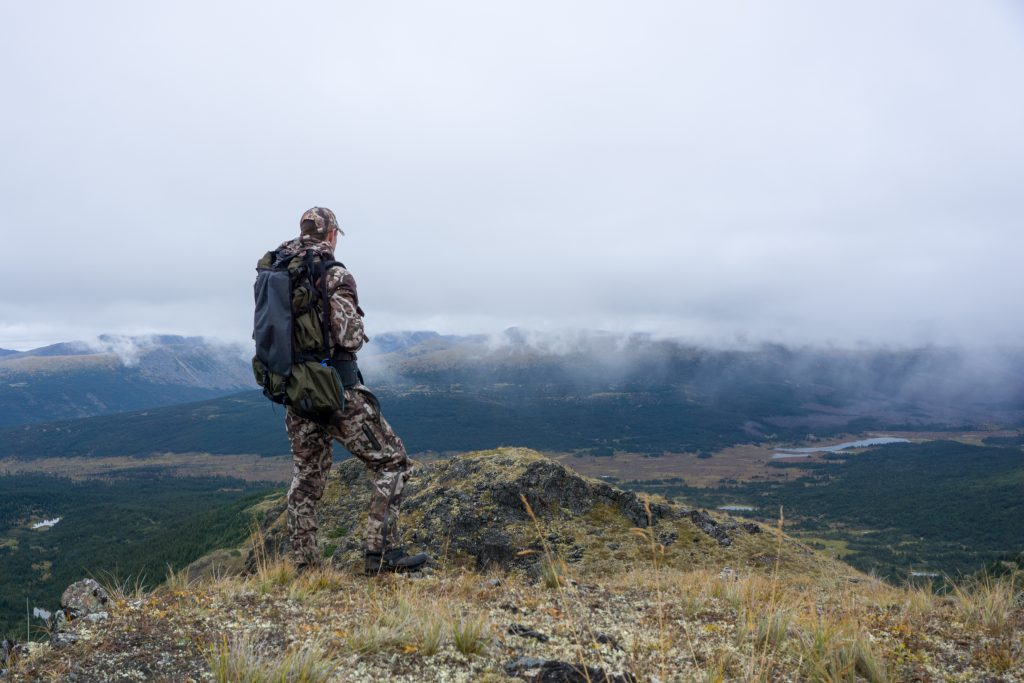 Rainy weather on a B.C. hunt.